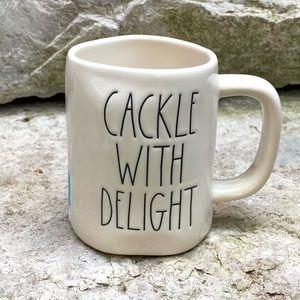 Rae Dunn CACKLE WITH DELIGHT Double-Sided Mug